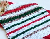 Hand Towel and Knitted Washcloth Set  - Christmas Gift