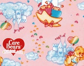 """Twin little stars and Care Bears Fabric 50 cm x 106  cm or 19.6"""" by 42"""" Half meter"""