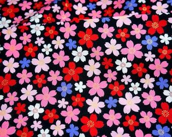 Kimono print Japanese fabric Sakura Half meter A7