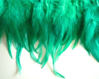 VOGUE COQUE SADDLE , Emerald Green w darker highlights , Double ply / 241