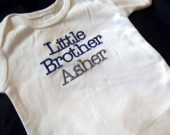 Little Brother Monogrammed Bodysuit