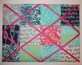 New memo board made with Lilly Pulitzer Multi Sailors Patch fabric