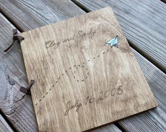Custom Wedding Guest Book - Paper Airplane