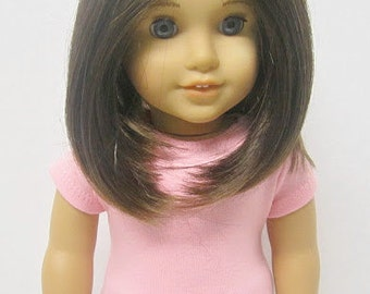 American Girl 18 inch Doll Fitted T-Shirt in Light Pink by Crazy For Hue