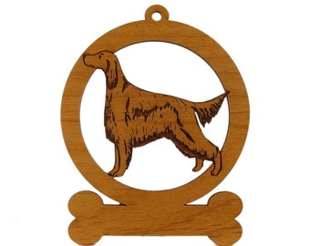 Irish Setter Standing Ornament 083370 Personalized With Your Dog's Name