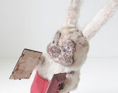 SALE | rabbit with accordion | wind up toy | made in japan