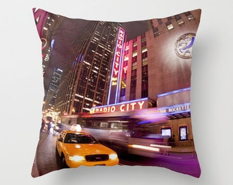 NYC Pillow Case - Throw Pillow Cover, New York City - NYC - Radio City Music Hall