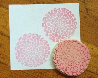 Flower Hand Carved Stamp