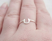 Lucky Horseshoe Ring Sterling Silver