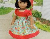 Backyard Garden - vintage style dress for American Girl doll