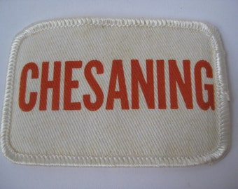 Chesaning Patch White Orange Vintage