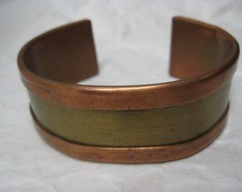 Copper Brass Bracelet Cuff Vintage
