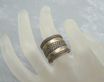 Wide Sterling Ring Band Jewelry R5674