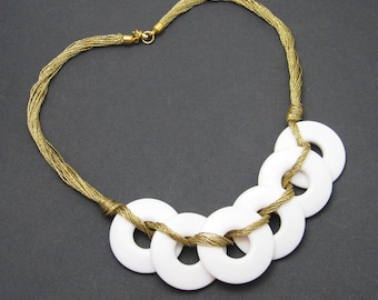 Vintage Napier Mod Necklace Susan Bertolli Jewelry Book Piece N6041