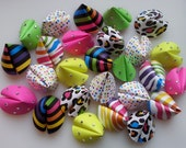 Paper Fortune Cookie Favors - Neon Animal Print Bling