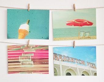 Postcard Set, Seaside Photography, Affordable Art, Gift Ideas - Brighton Rock