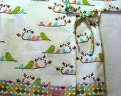 Baby Kimono - Original LivvySue Kimono Top - Mamma Birds  - size 6-12 mths ready to ship