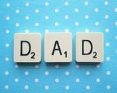 Upcycled Vintage Scrabble Tile Magnets - DAD