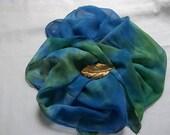 Hand Dyed Silk Chiffon Scarf