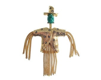 Vintage Trembler Figural Brooch, Rhinestone Book Piece, 1950s Fine Vintage Jewelry, Vintage Figural Jewellery