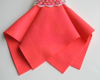 Bright Pink Felt, Choose Size, Wool Felt Sheet, Large Felt Square, 100% Merino Wool, Neon Felt, Nonwoven Fabric, Washable, DIY Supply