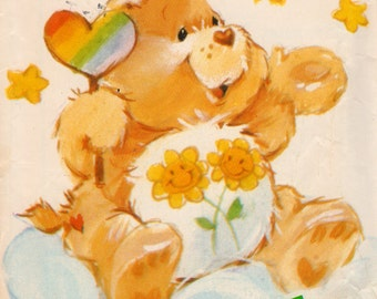 Butterick 6231 1980s FRIEND BEAR Care Bear Pattern Vintage Stuffed Toy Animal Sewing Pattern 17 Inches UNCuT