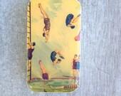 Diver pill box, vintage style gift tin, mint tin