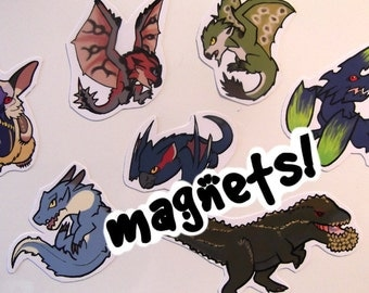 Monster Hunter - Cute Decorative Monster Magnets (average 8) - choose from over 60 designs