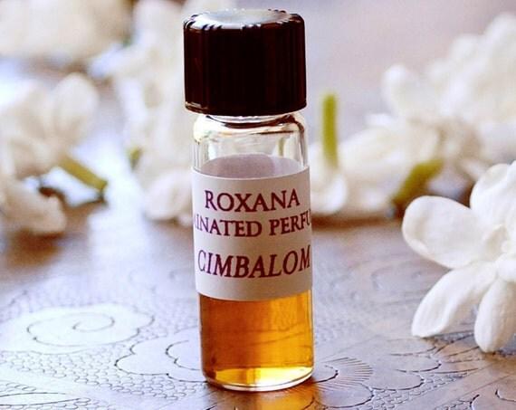 Organic Natural Botanical Perfume Cimbalom 1 gram - Pikake flowers with Amber, an exotic nature fragrance - Lucid, floral aromatherapy
