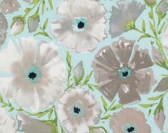 Sale Fabric Painted Garden Azealia in Grey by Dena Designs 1/2 Yard