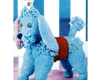 Blue Poodle - Digital Knitting Pattern