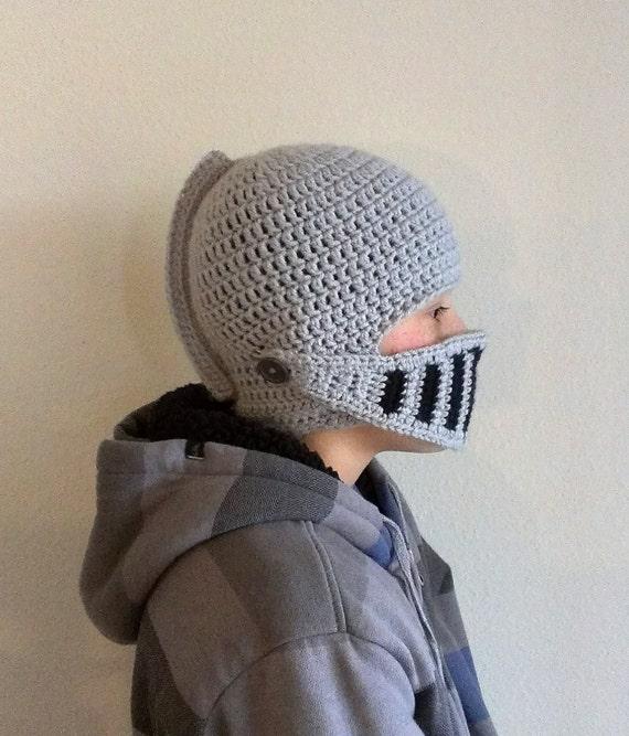Free Knight Helmet Beanie Crochet Pattern ~ Traitoro for .