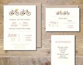 Bike Wedding Invitations .  Bike Wedding Invites . Rustic Wedding Invitations . Bike Wedding Invitations - I'll Follow You Anywhere
