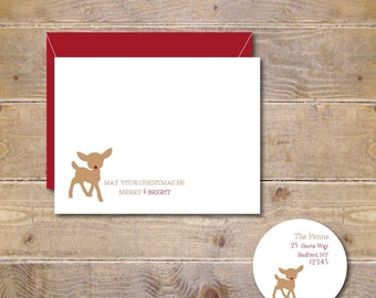 Christmas Cards .  Holiday Cards .  Personalized Christmas Cards - Red Nosed Rudolph