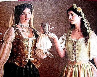 Historical Medieval Renaissance Dress Pattern Simplicity Misses Adult size 10 12 14 UNCUT