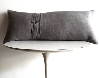 BOLSTER LINEN PILLOW - 8 Line Texture - available in 11 colors