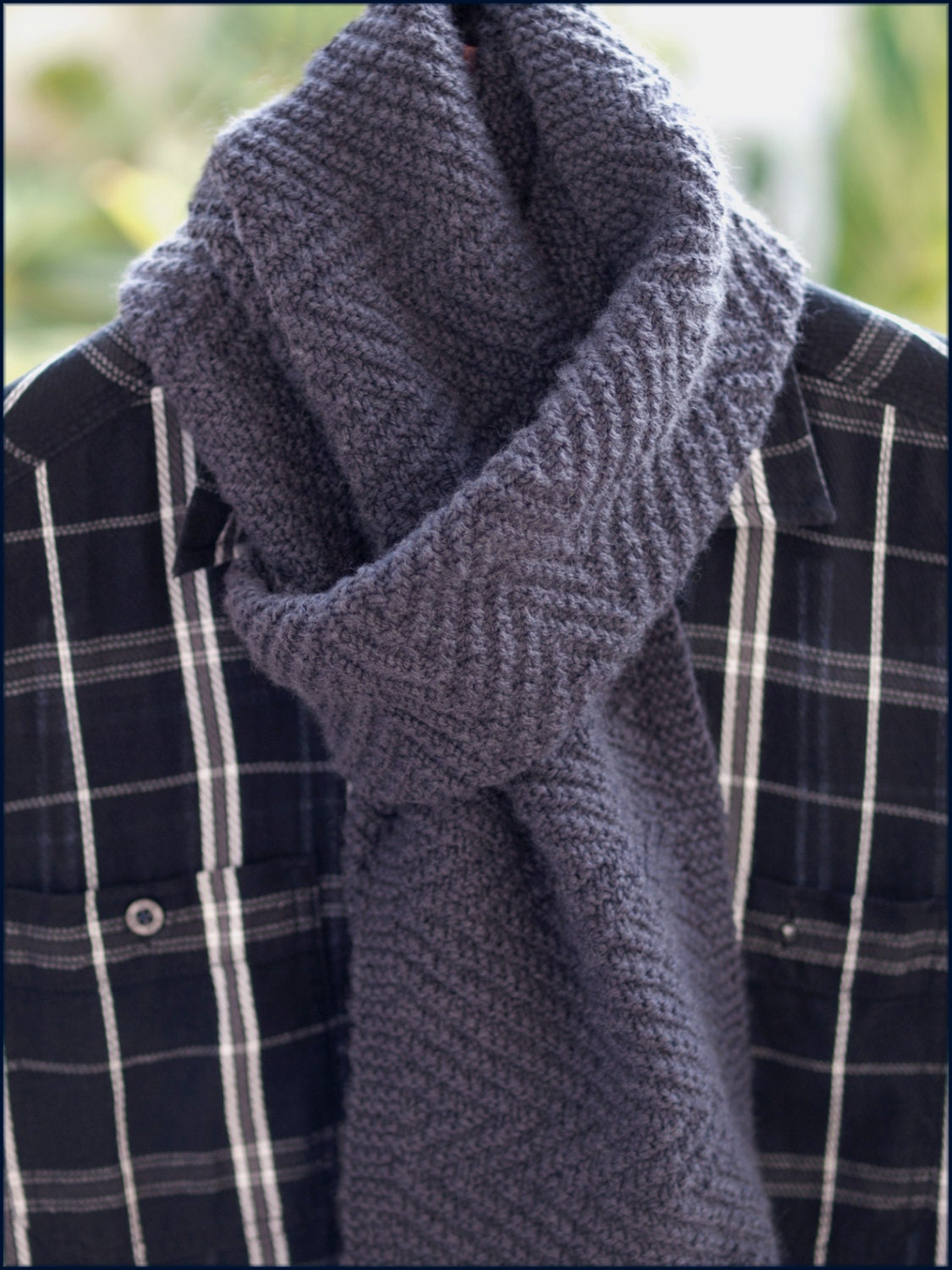 Lamberhurst Scarf Knitting pattern Mens scarf Reversible