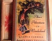Alice in Wonderland Book Jewelry Box - Lewis Carroll Alice in Wonderland Box - Jewelry Box - Alice - Cheshire Cat - Novel - Secret Book Box