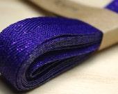 Purple Sparkling Ribbon / 12 mm wide 200 cm long