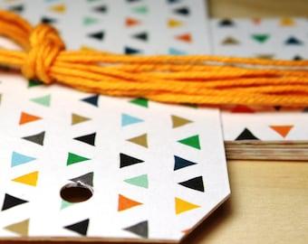 Triangle Confetti Gift Tags / 6/Pk