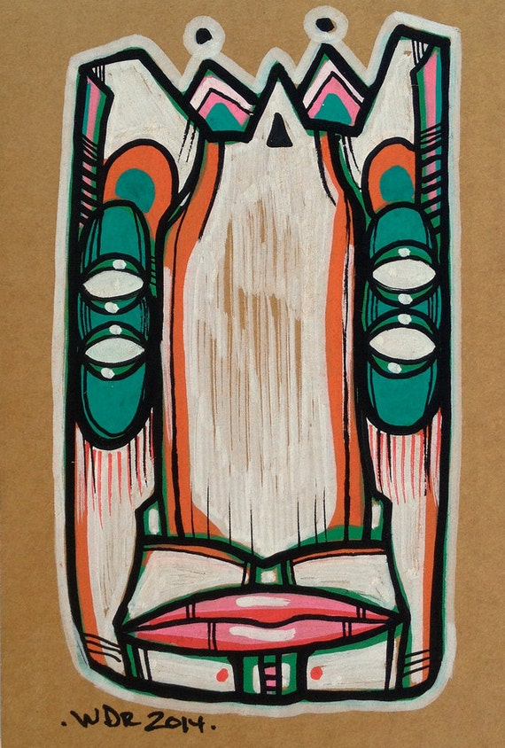 Foursight - Original illustration on Cardboard