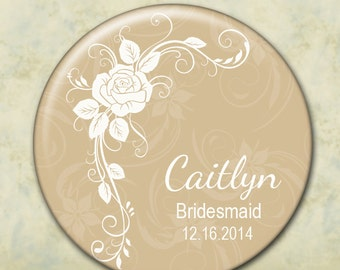 Personalized Bridesmaid Gift, Pocket Mirror