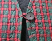 quilted charcoal gray jacket