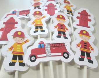 Fireman Cupcake Toppers