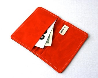 Waxed Canvas Wallet