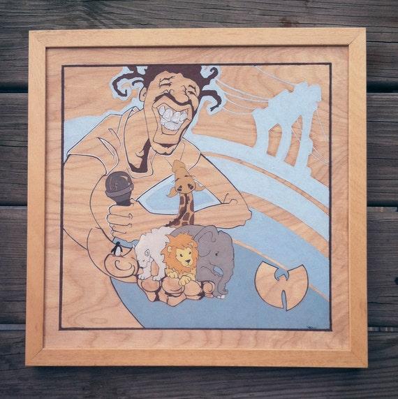 ODB Brooklyn Zoo_ Original Painting On Wood By Shayne Art