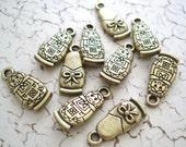 Matryoshka Russian Nesting Doll Charms Bronze