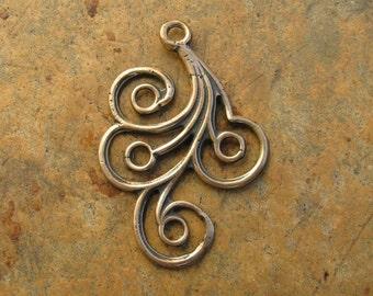 Bronze Swirl Pendant