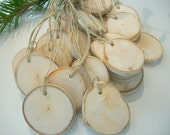 20 Michigan Made Hang Tags, Gift Tags, Camp Tags  Mason Jar Tags - 2   to 2 1/8 inch - with String for Wedding Decor, Shopkeepers, Artists