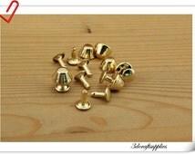 12mm Golden purse feet rivet  Mushroom Purse Feet 30sets P109